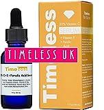 Timeless Skin Care 20% Vitamina C + Acido e Ferulic Siero 30ml–autorizzato venditore UK–Fresco, nuovo e sigillato