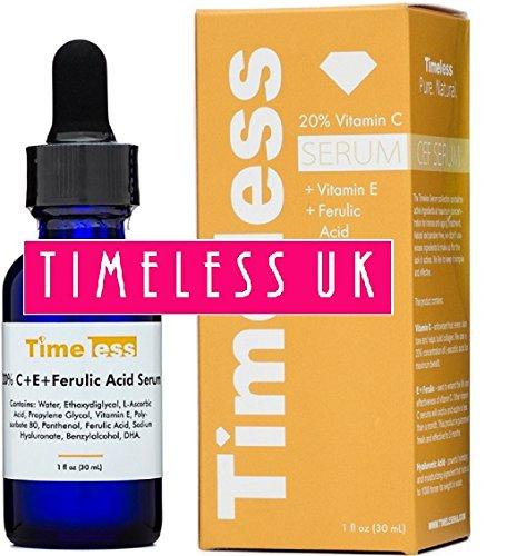 Timeless Skin Care 20% Vitamin C+E Ferulic Acid Serum 30ml - From Timeless-UK© the Primary Authorised distributor of Timeless Skin Care Range in UK & Europe! Fresh Stock Guaranteed! (Serum, Vitamin Ferulic C E)