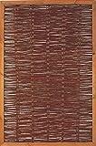Weidenzaun Weidengeflecht Sichtschutz Sichtblende mit Holzrahmen Cordoba (6x 120 x 180 cm)