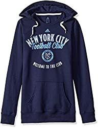 MLS New York City F.C. Womens Arched Gel Fleece Crewdie Top, Medium, Dark Navy