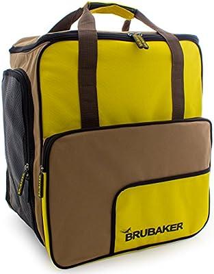 BRUBAKER 'Super Function 2.0' Bolso Para Deporte - Mochila Porta Botas De Esquí - Marrón / Amarillo