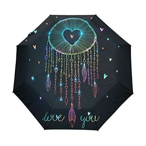 Enne paraguas Atrapasueños plegable compacto viaje paraguas lluvia viento UV Protección