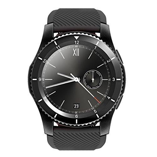 Kivors® 3.0/4.0Bluetooth Smart Watch Armband Telefon Uhr Tracker Uhr mit Herzfrequenz Armband Aktivität Tracker Gesundheit Schrittzähler Monitor Sport Armband Armbanduhr Telefon für iPhone IOS und Android Smartphones (mit rotes Band)