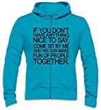 Photo de If You Don't Have Anything Nice To Say Come Sit By Me Slogan Mens Zipper Hoodie par Styleart