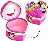 Unbekannt Schmuckkasten / kleine Schatztruhe - Herz mit Spiegel -  Disney - Minnie Mouse  - Utensilo - Kinderzimmer - z.B. für Schmuck - Schmuckschatulle / Dose - Sch..