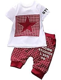WangsAura Baby Boy Kid 2 Piece STAR Sportswear Clothes T-shirt Top Short Pants Outfit Set