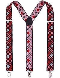 Suspenders for Men, Women Fashionable Y-Back Clip Suspender