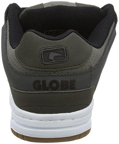 Globe Scribe, Scarpe da Skateboard Uomo Black (charcoal/grey/white)