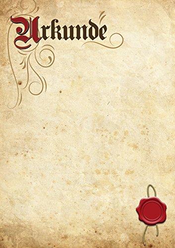 Urkunde Blanko in Elefantenhaut-Optik für Gelegenheiten wie Auszeichnung, Belobigung, Ehrung, Anerkennung und Jubiläum im Privatbereich, im Beruf oder im Verein (10 Stück)