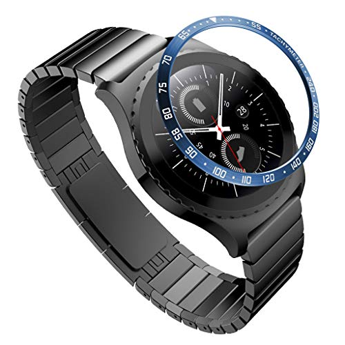 Webla Uhrenschutzhülle Passend für Samsung Gear S2 Classic Sc   ale Ring Uhrenaufkleber Hülle kratzfestes Metall, Edelstahl -