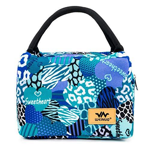 Borsetta porta pranzo termica pranzo borse borsa alimenti lunchbox con rivestimento isolante a prova di perdite leggera per donne per picnic, nautica da diporto, spiaggia, pesca, scuola e ufficio