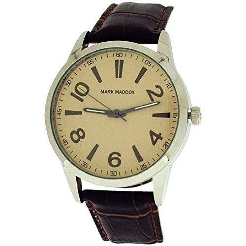 Mark Maddox Gents Cream Dial & Brown Croc Effect Strap Dress Watch HC6003-25