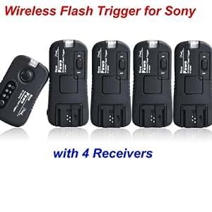 pixel TF373 Wireless Déclencheur Flash 1 émetteur 4 récepteur Déclencheur radio à distance- Groupement flash & Studio de Kaavie pour sony Digital SLR & Flashgun