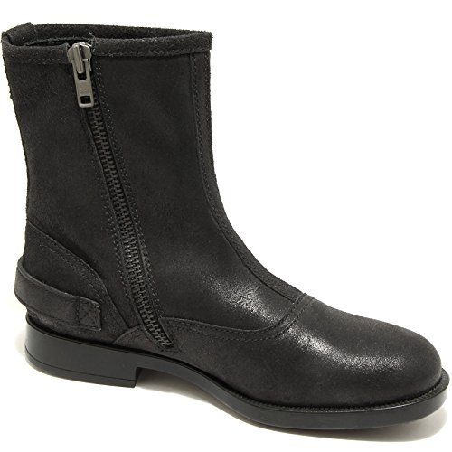22929 stivaletto nero HOGAN MOTORCYCLE scarpa uomo boots shoes men Nero
