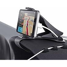 Zenoplige soporte para automóvil soporte para teléfono de coche pinza sujeta móvil para coche soporte móvil coche para el teléfono/smartphone compatible con todo tipo de teléfonos.