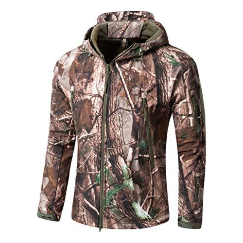 YuanDian Herren Tactical Camouflage Softshelljacke Herbst Winter Outdoor Armee Military Fleecejacke...