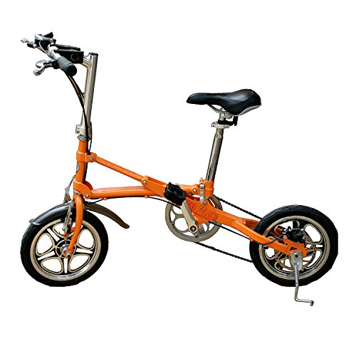 AdraXx Super Folding Bike For City And Vacations With 7 Speed Gears (Orange)