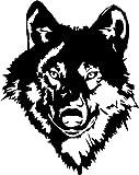 Wolf Head Auto, Camper Fahrrad Van Motorhaube Fenster Aufkleber groß