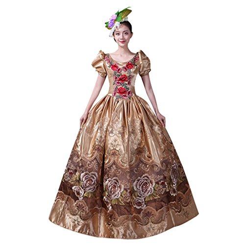 Cosplayitem Vintage Rose Bestickt Viktorianischen Kleid Kostüm Cocktailkleid für Damen Mädchen