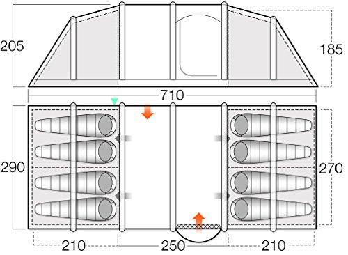 Vango Odyssey Air Beam, aufblasbares Tunnel-Zelt, Unisex, Odyssey Air 800, Epsom - 7