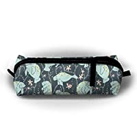 Manatee Pencil Case Cosmetic Bag Coin Pen Holder Stationery Storage Bag Zipper Makeup Storage