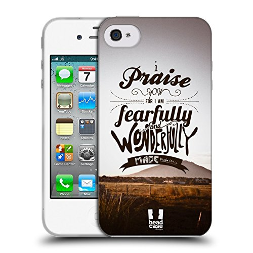 Head Case Designs Highcross Stampa A Croce Cover Morbida In Gel Per Apple iPhone 7 / iPhone 8 Fearfully And Wonderfully Made