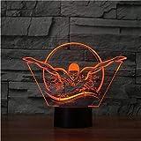 3D Usb Visual Gift Nuoto Modelling Night Lights Led Sport Lampada Da Tavolo A Colori Touch Button Sleep Light Fixtures Decor