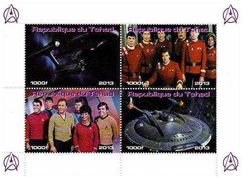 Star Trek Briefmarken - Erstbezug Briefmarken aus der Star-Trek-Originalserie und Filme mit der ursprünglichen Crew - Mint und postKleinBogen mit 4 Marken