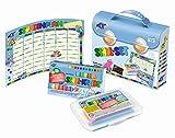 Feuchtmann Spielwaren 6280150 - Schul-Knet Set, Knete und Kreide, 18-teilig -