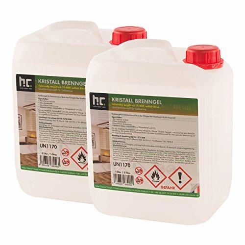 Höfer Chemie Kristall Brenngel Premium 4 x 5 L (20 Liter) für Brenngel Dekofeuer, Brenngel Lampe und Brenngel Kamin -