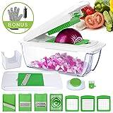 Mandoline de Cuisine Multifonction en 1 Machine à Raper Coupe-légumes Professionnelle (G2000)