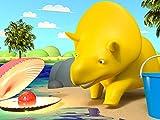 Lerne Farben mit Dino dem Dinosaurier : Bällen, Luftballons
