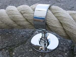 Support pour corde de 40 mm de main courante plaqué Chrome