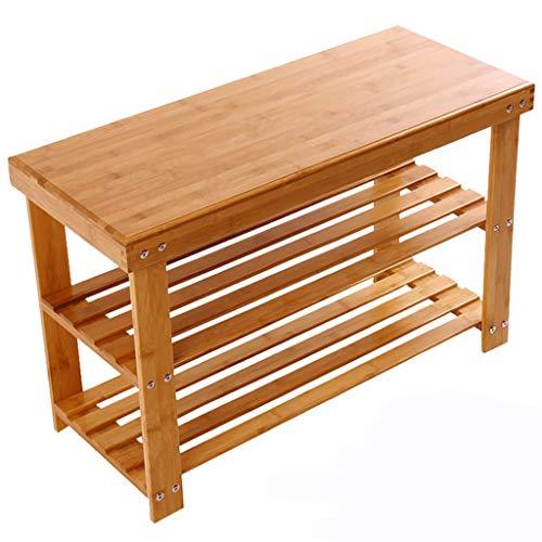 YUN-X Schuhregal aus massivem Holz, kleines Schuhregal, einfacher Schuhschrank, Schuhbank, sparsamer...