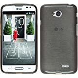 Funda de silicona para LG L70 - brushed plata - Cover PhoneNatic Cubierta + protector de pantalla
