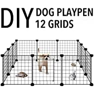 Allisandro Rabbit Bunny Guinea Pig Playpen[30x30cm X12 Panels] Small Animal Cage Indoor Portable Yard Fence Little Puppy Kennel Crate Fence Tent
