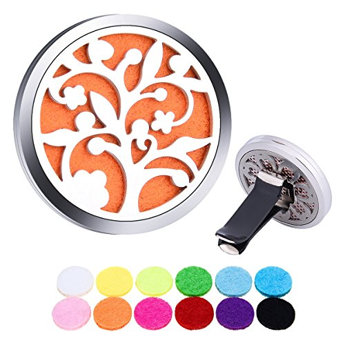 Aromatherapy-Essential-Oil-Diffuser-Car-Clip-White-K-Stainless-steel-Hollow-Openable-Magnetic-Locking-Car-Clip-38mm