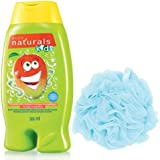 Avon Kids Naturals 2 in 1 Body Wash & Bubble Bath (Magnificient Mango) + Loofah