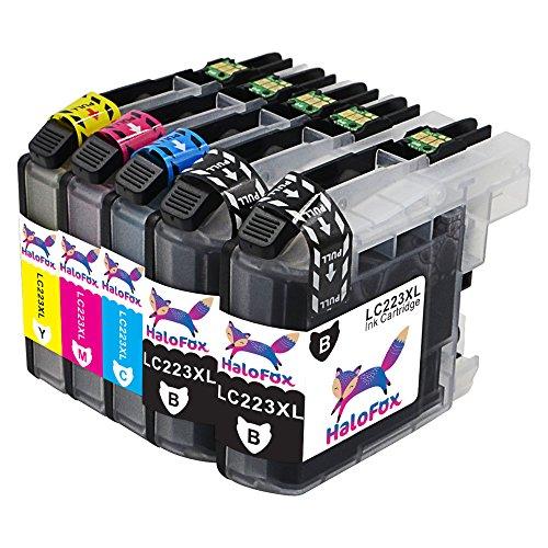 Preisvergleich Produktbild HaloFox 5 Tintenpatronen LC223 Hohe Ausbeute 223XL Ersetzen für Brother Brother DCP-J4120DW DCP-J562DW MFC-J480DW MFC-J680DW MFC-J880DW MFC-J4420DW MFC-J4620DW MFC-J4625DW MFC-J5320DW MFC-J5620DW MFC-J5625DW MFC-J5720DW Drucker (2 Schwarz, 1 Magenta, 1 Gelb, 1 Cyan)