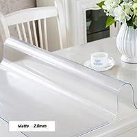 CYALZ Matte Mantel Transparente de PVC Soft Modern Simple Moda Upscale Table mats Sala de estar Cocina Restaurante Hotel 2,0 mm de espesor de 90 * 150cm (Este producto sólo vende manteles)