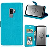 Samsung Galaxy S9 Plus Card Holder Case, Samsung Galaxy S9 Plus Wallet Case Slim, Samsung Galaxy S9 Plus Folio Leather Case Cover Shockproof Case With Credit Card Slot, Durable Protective