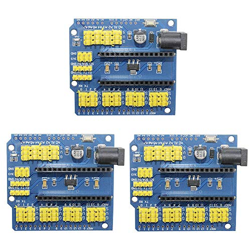 IZOKEE 3PCS Nano I/O Shield Tarjeta de Expansión Modulo per Arduino Nano V3.0 UNO R3