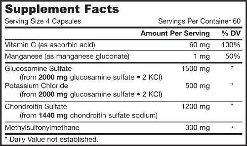 Jarrow Formulas, Glucosamin + Chondroitin + MSM-Kombination, 240 Kapseln