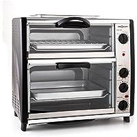 oneConcept All-You-Can-Eat - Four grill, Four électrique, Four double, 42L au total, 2400W, Température réglable, 60-240…