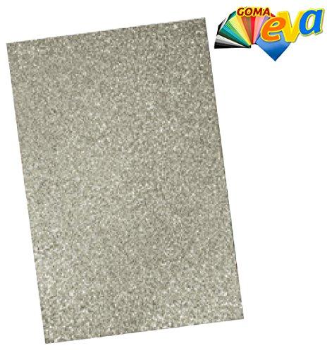Pryse 5020126 - Hoja goma EVA, 40 x 60, color purpurina plata