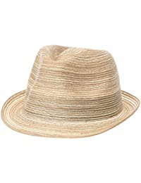 a0ee1f7a817 WITHMOONS Sombrero Fedora Porkpie Fedora Hat Summer Bocasi Simple Plain  Seamless Hat SL6985
