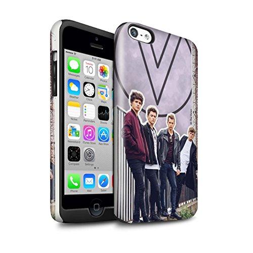 Officiel The Vamps Coque / Brillant Robuste Antichoc Etui pour Apple iPhone 5C / Pack 5Pcs Design / The Vamps Livre Doodle Collection Coupé