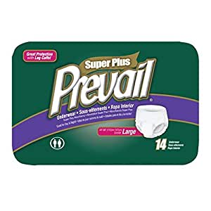 Prevail Super Plus Disposable Underwear - Large (14 Count)