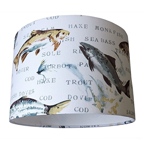 fish-print-handmade-fabric-drum-lampshade