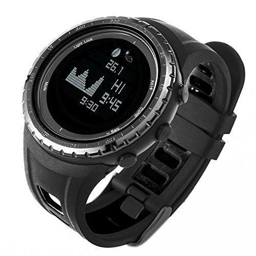 SUNROAD Armbanduhr FR830 Digital Angeln Uhr 5 ATM Sport Uhren Multifunktion Stoppuhr mit Höhenmesser Wettervorhersage Countdown Temperatur